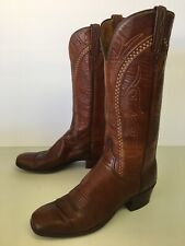 Lucchese Women's 8.5 A Western Leather Cowboy Boots