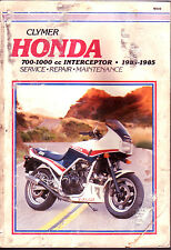 Honda 1983-1985 700cc-1000cc V-Four V4 Interceptor Clymer shop manual