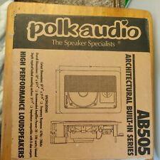 New listing New Polk Audio Speakers 6x9 Model Ab505 Architectural Built-In Wall Speakers