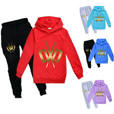 Gold Chad Wild Clay Trousers Suit Kids Children Tracksuit Hoodies Tops +Pants CN