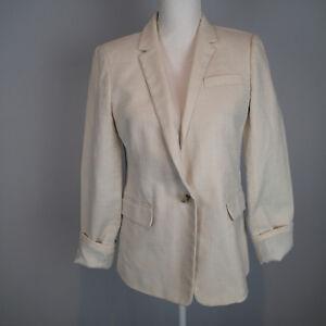 J Crew Size 8 Regent Blazer  Linen Cotton Bl career work jacket  po