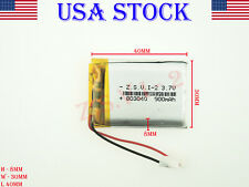 3.7V 900mAh 803040 Lithium Polymer Li-Po ion Rechargeable Battery (USA STOCK)