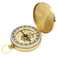 High Quality Camping Hiking Pocket Brass Compass Portable Compass Navigation