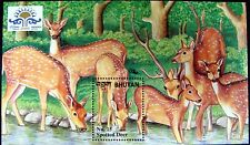 BHUTAN DEER STAMPS SOUVENIR SHEET WILD ANIMAL STAMPS SPOTTED DEER 2000 INDEPEX