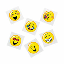 EMOJI PARTY Smiley Face Tattoos Temporary Tattoo Pack of 36 Free Postage