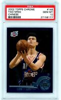 YAO MING 2002 Topps Chrome Chinese Variation Rookie Card RC #146 PSA 10 Gem Mint