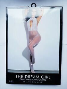 Ann Summers The Dream Girl Crotchless Body Stocking L/XL 16-22 White Erotic Sexy