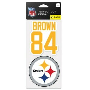 """ANTONIO BROWN PITTSBURGH STEELERS 4""""X8"""" 2 PIECE PERFECT CUT DECAL SHEET"""