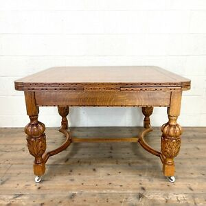 Antique Oak Draw Leaf Dining Table (M-2746)- FREE DELIVERY*