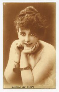 c 1920 Pretty Young LADY w/ BIG HAIR Glamour photo postcard