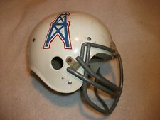 VINTAGE HOUSTON OILERS EARL CAMPBELL SUSPENSION FOOTBALL HELMET WITH REAL MASK