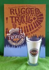 """RARE ~ 2006 Troegs Brewing """"RUGGED TRAIL Poster & Pint Glass Collector - ManCave"""