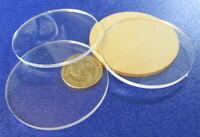 "1/8"" (.118"") Thick x 2.50"" (2 1/2"") Diameter Acrylic Circle Disc Clear 25 Pcs"