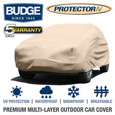 Full SUV Cover Outdoor Waterproof UV-Resistant Rain Dust Protection 4 Layers Tan
