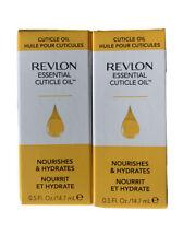 2 Pack Revlon Nail Care Essential Nail & Cuticle Oil, 0.5 fl oz