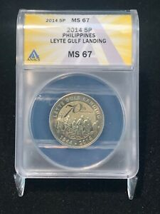 2014 5 Piso Philippines Leyte Gulf Landing ANACS MS67