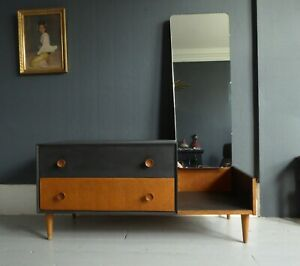 mid century chest of drawers dressing table vanity unit vintage retro Meredew