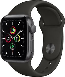 Brand New APPLE Watch SE Space Grey Aluminium With Black Sports Band 44MM GPS