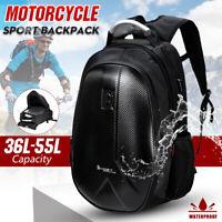 36L - 55L Motorcycle Motorbike Waterproof Backpack Helmet Scooter Rucksack Bag