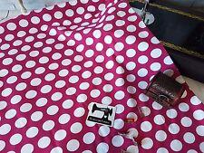 50cm fuchsia pink white polka dots spots cotton lycra stretch knit fabric spot