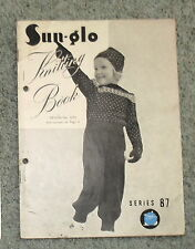 Vintage Sun Glo Knitting Book Childrens Clothes