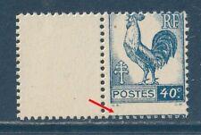 Variétés s/COQ D'ALGER n°632** Piquage à cheval, Bdf. Luxe
