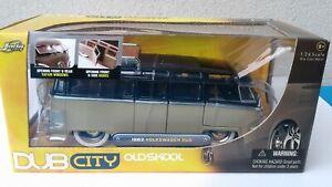 JADA TOYS 1:24 - 1962 Volkswagen Kombi Bus - DUB CITY OLD SKOOL- 2006 - Preowned