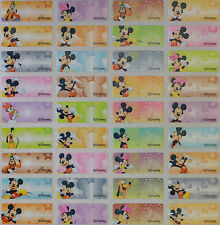 Personalised Name Stickers Vinyl Tag / Label, 120 small Disney Mickey Mouse