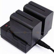 Dual Channel Battery Charger For SONY NP-F970 F770 F750 F550 FM500H FM55H QM91D