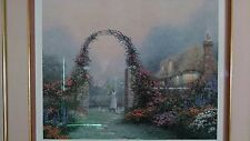 "Thomas Kinkade ""Rose Arbor Cottage"" Archival Quality Lithograph-Signed-Framed"