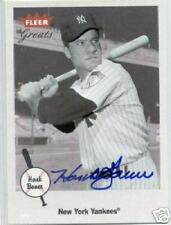 HANK BAUER SIGNED FLEER GREATS CARD *COA* NEW YORK YANKEES AUTHENTIC AUTOGRAPH