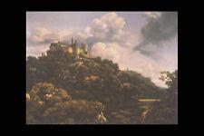 358086 The Castle Of Bentheim On The Moselle Jacob Van Ruysdael A4 Photo Print