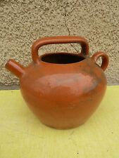Ancienne cruche en terre vernissé, art populaire de provence, savoie