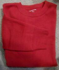 MENS SWEATSHIRT - BURGUNDY CLARET RED - CROFT & BARROW - SMALL - NEW
