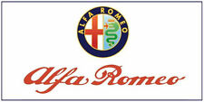 Alfa Romeo flag 1500mm x 900mm (white bgrd)  (of)