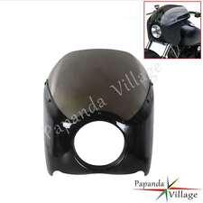 Wide Glide Headlight Fairing Kit For Harley XL 883N Iron 2009- 2014 Bobber Smoke
