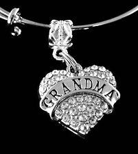 Grandma bracelet  Crystal heart style grammy grandma mothers day