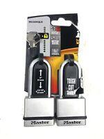 Master Lock M530XTLH Magnum Solid Steel Keyed Alike Padlocks, 2 Pack 2