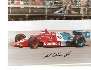 Autographed Al Unser, Jr CART Indy Car Racing Photograph
