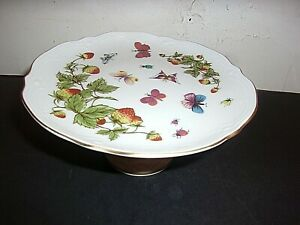 Pedestal Footed Candy Dish Bowl with Butterflies