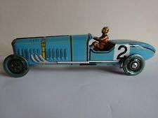 Jouet en tôle Paya Voiture de course Bleue Réédition longueur 34 cm vintage