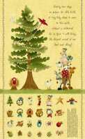 100% Cotton Fabric Henry Glass The King's Arrival Advent Calendar Panel