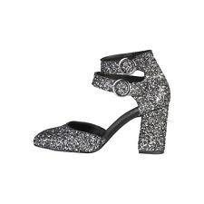 Zapatos de tacón de mujer grises de sintético, Talla 41