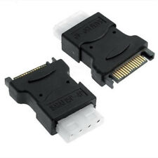 15 Pin SATA Male Power Connecter to 4 pin Molex Female Adapter Converter Tool#
