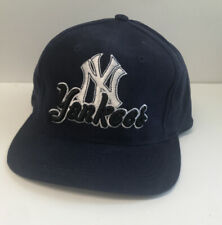New York Yankees Vintage Snapback Hat Cap Drew Pearson Navy 3D Embroidery Twill