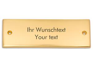 Klingelschild aus Messing mit Ihrer Gravur, Türschild, Namensschild, 125 x 45 mm