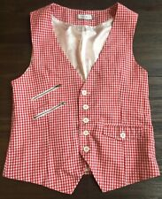 Genuine Dior Homme Men's Waistcoat Vest in size 50 - Red White Gingham