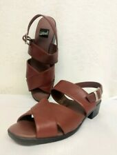dac27e4b3d7 WHAT S WHAT Cross Take Womens Shoes By AEROSOLES Size 9.5M Brown Leather  Sandals