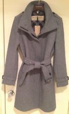 BURBERRY WOMEN GIBBSMOORE WOOL BLEND BELTED COAT - GREY MELANGE - SIZE 10 - NWT!