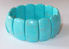 Howlite stretch bracelet (7.5), 250+ ct, c. 55g